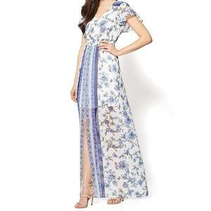 New York & Co. short sleeve maxi dress